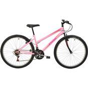 Bicicleta Mtb Aro 26 Feminina 18 Marchas Rosa 7147 Polimet