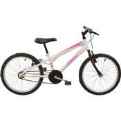 Bicicleta Mtb Aro 20 Monomarcha Feminina Branco 7138 Polimet