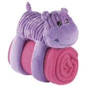 Cobertor Com Travesseiro De Pelúcia Hipopótamo Bb145 Multikids