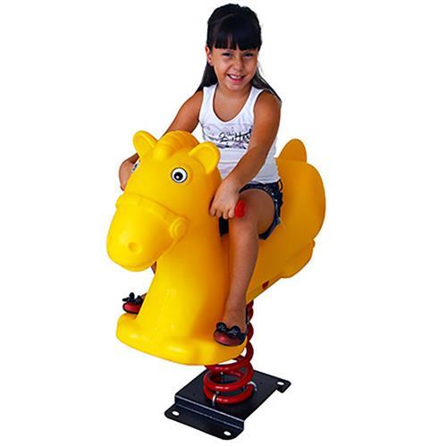Molengo Cavalo Amarelo Playground Henri Trampolim