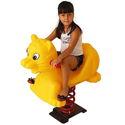 Molengo Gato Amarelo Playground Henri Trampolim