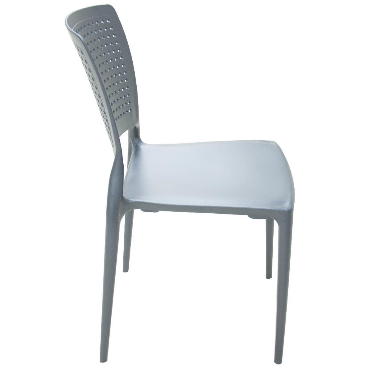 Cadeira Safira Polipropileno E Fibra De Vidro Grafite 92048007  -> Imagens De Uma Cadeira