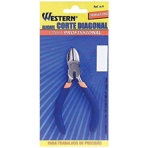 Alicate Miniatura De Corte Diagonal 11.2cm Azul A-9 Western