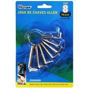 Jogo De Chaves Allen 8 Peças 1.5 A 6mm Prata ALC-18 Western