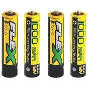 Pilhas Recarregáveis Aaa 1000 Mah 4 Unidades Fx-Aaa10lb4 Flex