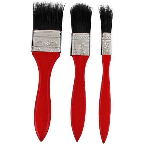 Kit Com 3 Pincéis Para Pintura Vermelho P 13 Western