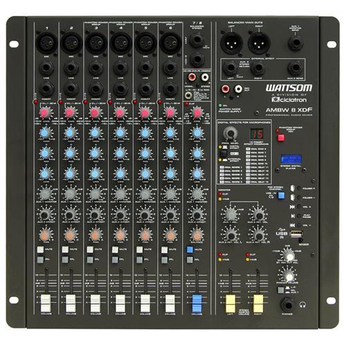 Mesa De Som Mixer 8 Canais E 15 Efeitos Ambw-8Xdf Wattsom