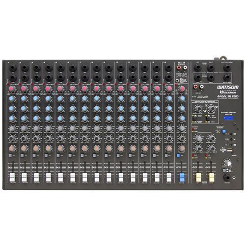 Mesa De Som Mixer 16 Canais Com Entrada Usb Amw-16 Esd Wattsom