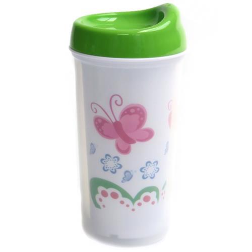 Copo Térmico Infantil 260Ml Com Bico Plástico 9147 Borboleta Love