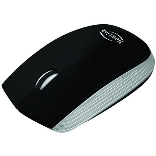 Mouse Sem Fio Optimus Nano USB 1600 Dpi Preto MO220 NewLink