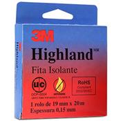 Fita Isolante Highland 20 Metros 19Mm Preta 19807 3M
