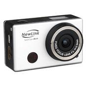 Câmera De Ação Filmadora 1080P Full Hd Prata Fs101 Newlink