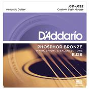 Encordoamento De Violão Phosphor Custom Light 0.11 Ej26 D Addario