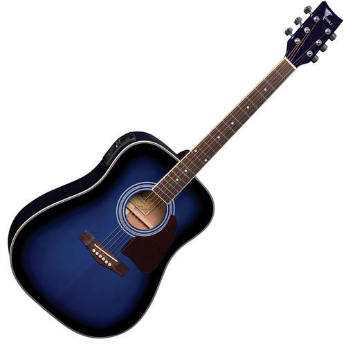 Violão Elétrico Folk Aço Tradicional Azul Sunburst CH887 BLS Eagle