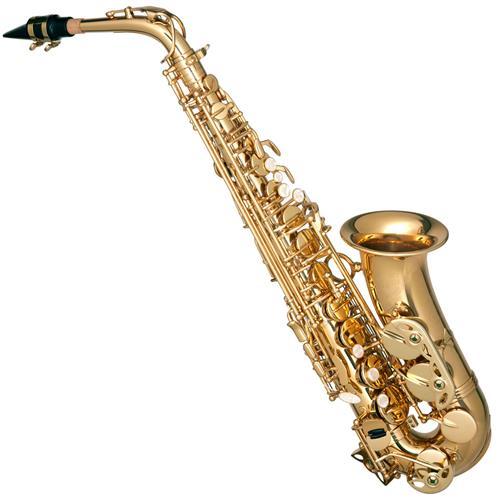Saxofone Alto Em Sib Dourado Com Estojo Luxo HSA400 Hofma