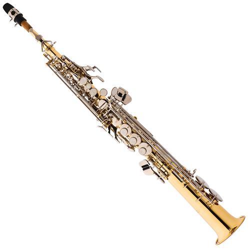 Saxofone Soprano Em Sib Laqueado Chaves Niqueladas SP502 LN Eagle