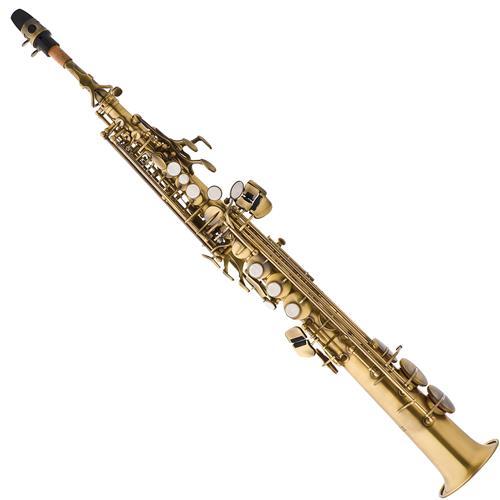 Saxofone Soprano Em Sib Envelhecido Com Estojo SP502 VG Eagle