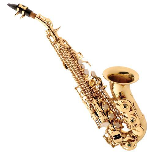 Saxofone Soprano Curvo Em Sib Laqueado Com Estojo SP508 Eagle
