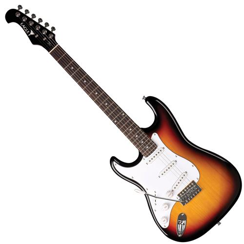 Guitarra Strato Basswood Para Canhotos Sunburst Sts001 Lh Sb Eagle