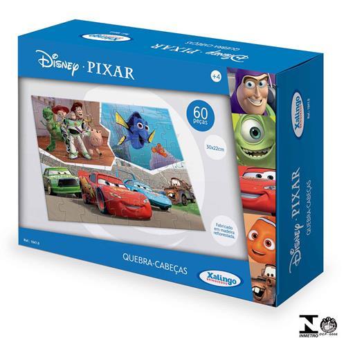 Quebra Cabeça Disney Pixar 60 Peças Em Madeira 1841.0 Xalingo