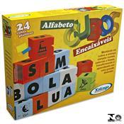 Jogo De Cubos Encaixáveis Alfabeto 24 Peças 0285.4 Xalingo