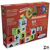 Jogo Cubos Encaixáveis Números E Quantidades 24 Peças 0296.5 Xalingo