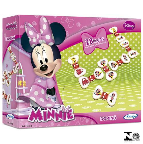 Dominó Minnie Disney 28 Peças Em Madeira 1860.9 Xalingo
