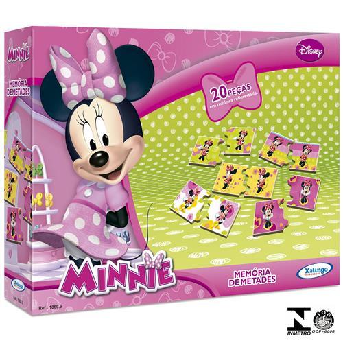 Jogo Memória De Metades Minnie Disney 20 Peças 1869.8 Xalingo