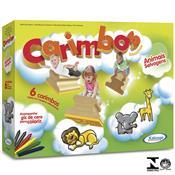Jogo De Carimbos Educativos Animais Selvagens 5079.8 Xalingo