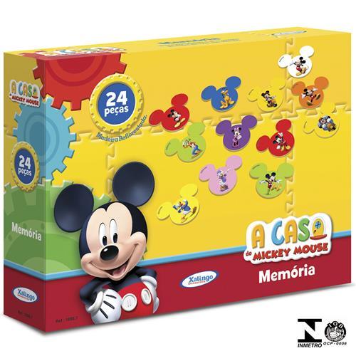 Jogo Da Memória Mickey Club House Disney 24 Peças 1898.7 Xalingo