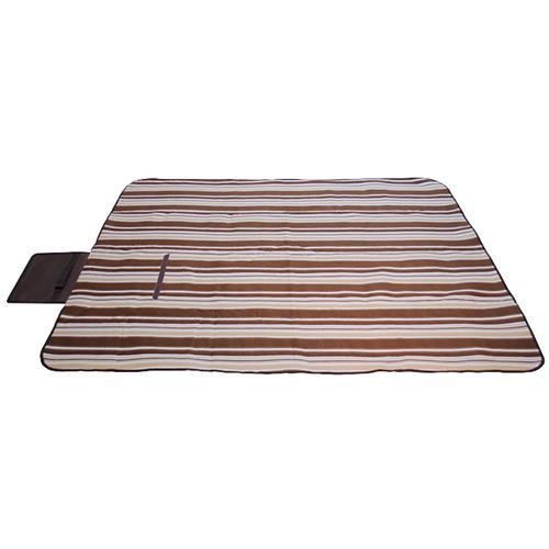 Piso Toalha 125x150cm Marrom Listrado Para Piquenique KA0301 Guepardo