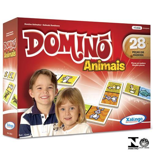 Jogo De Dominó Animais 28 Peças 5246.5 Xalingo