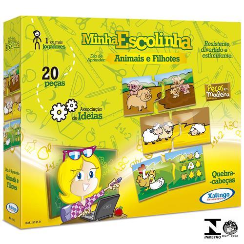 Quebra-Cabeça Animais E Filhotes 20 Peças 5131.0 Xalingo