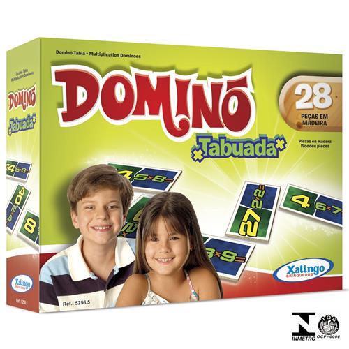 Jogo De Dominó Tabuada 28 Peças 5256.5 Xalingo