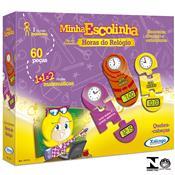 Quebra Cabeça Horas do Relógio Minha Escolinha 60 Peças Xalingo