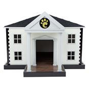 Casinha Para Cães De Pequeno Porte Carlu Pet House Branca/Preta