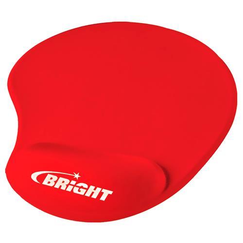 Mousepad Ergônomico Com Apoio De Gel Vermelho 0308 Bright