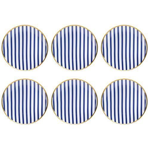 Jogo 6 Pratos Rasos Coup 28Cm Em Porcelana Lusinata Em12-4988 Oxford