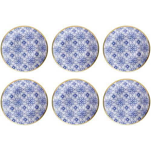 Jogo 6 Pratos Fundos Coup 24Cm Em Porcelana Lusinata Em14-4988 Oxford