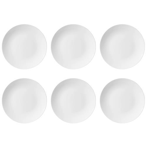 Conjunto Com 6 Pratos Fundos 24Cm Coup White Em14-4812 Oxford
