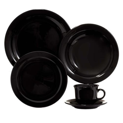 Aparelho De Jantar Chá Daily Floreal 20 Pçs Jm38-6015 Preto Oxford
