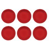 6 Pratos Para Sobremesa 20Cm Daily Floreal Jm18-6017 Oxford