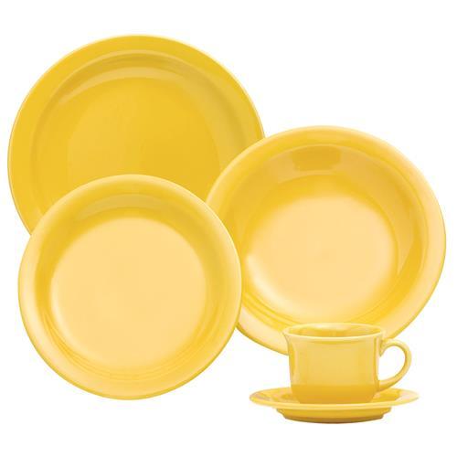 Aparelho De Jantar E Chá Floreal 30 Peças Yellow J591-6025 Oxford