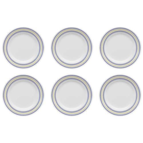 Conjunto 6 Pratos Sobremesa 18Cm Donna Elis Am18-5109 Biona