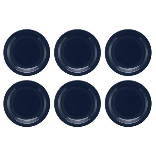 Conjunto Com 6 Pratos Rasos 26Cm Floreal Denim Jm12-6028 Oxford