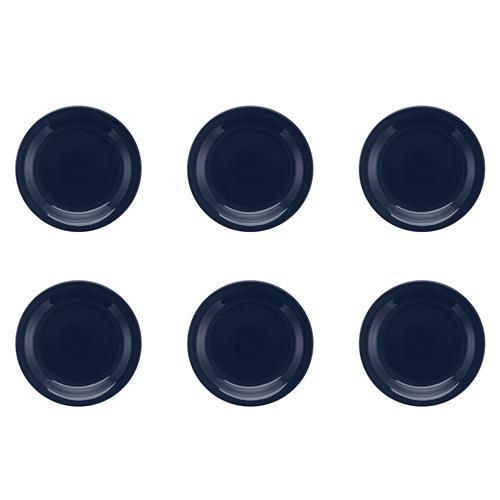 6 Pratos Para Sobremesa 20cm Floreal Denim JM18-6028 Oxford