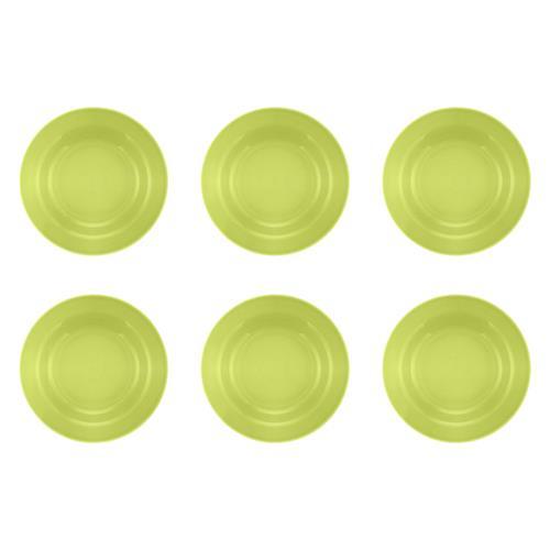 Jogo 6 Pratos Fundos Donna Verde 21Cm Am14-5010 Biona