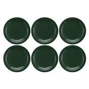 Conjunto Com 6 Pratos Rasos 26Cm Floreal Forest Jm12-6029 Oxford