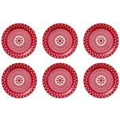 6 Pratos Sobremesa 20Cm Daily Floreal Renda 6404 Oxford