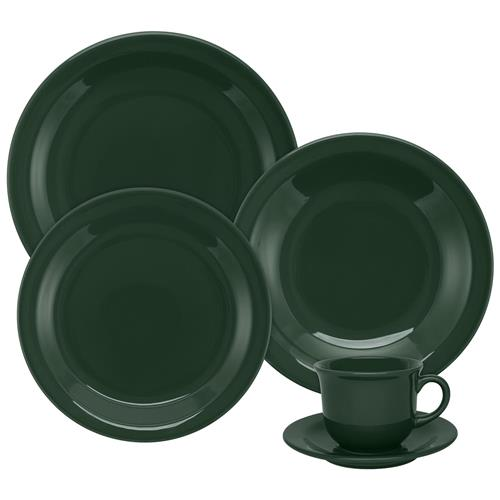 Aparelho De Jantar E Chá 20 Peças Floreal Forest 6029 Oxford